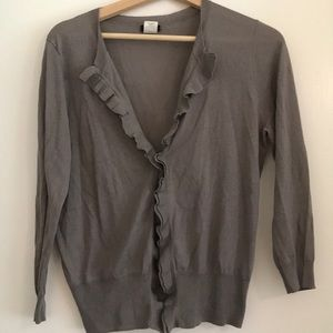 Like new grey cotton open cardigan! Perfect layer